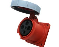 63 amp industrial socket IP67 waterproof