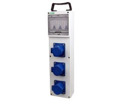 industrial socket distribution box 3 sockets