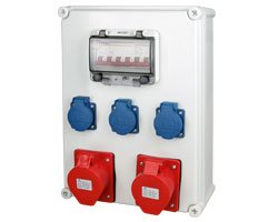 industrial socket distribution box 5 sockets