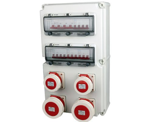 industrial socket distribution box product display