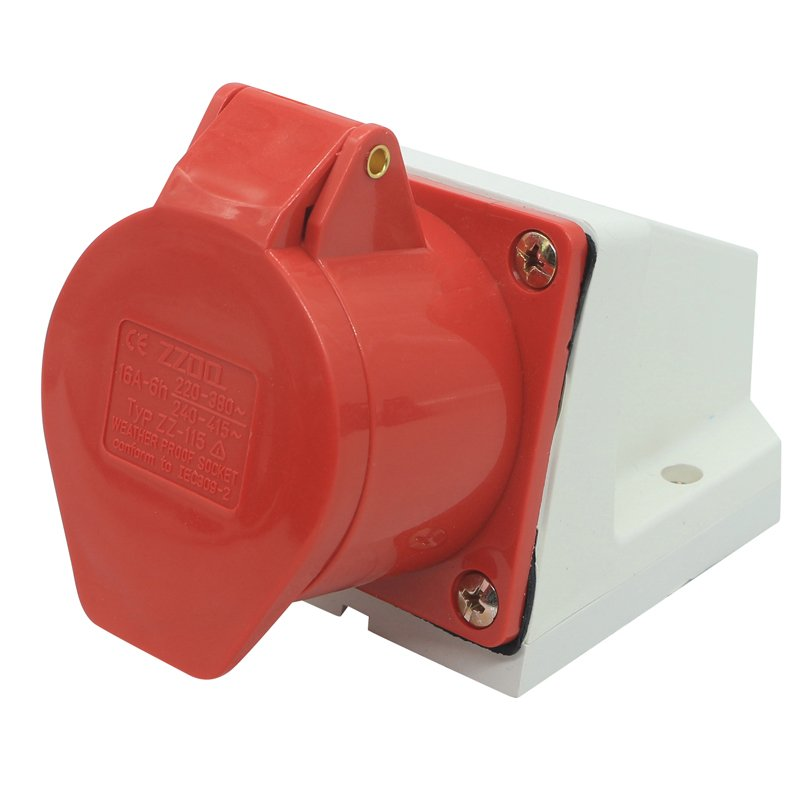 BS4343 socket 16a red color