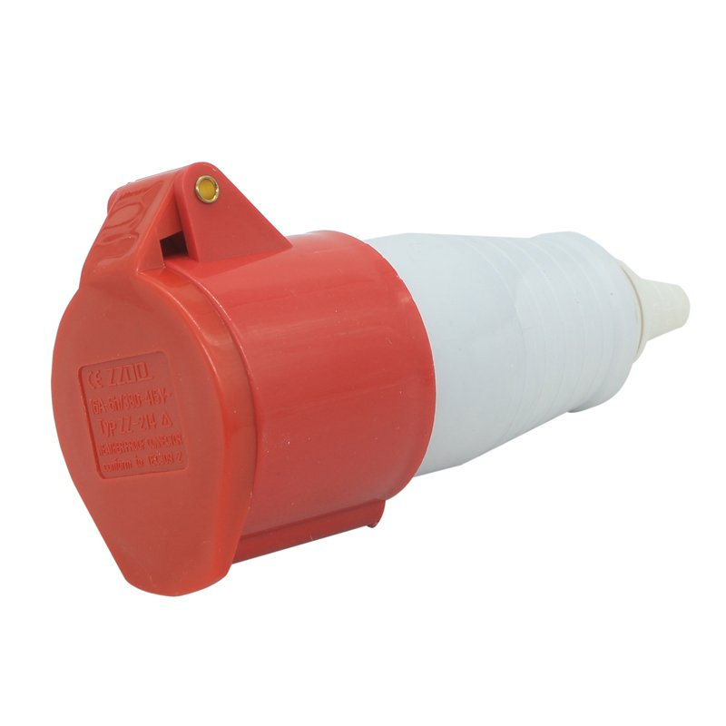 BS4343 straight red socket with 16amp