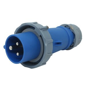16amp socket 3-pin blue